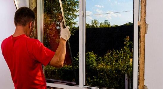 Pose de fenêtre en PVC