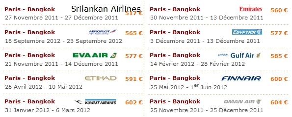 Paris-Bangkok pas cher avec Opodo