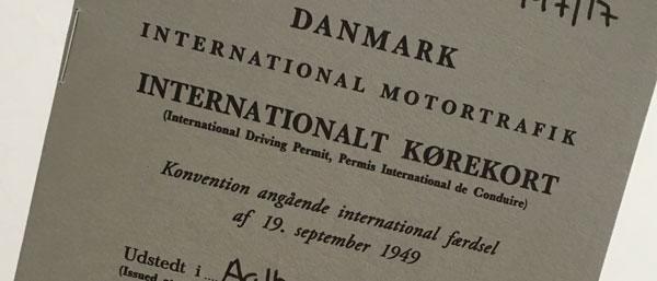 Internationalt kørekort USA