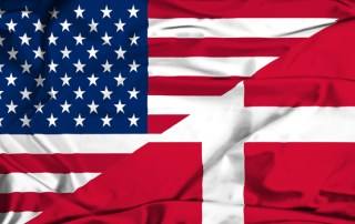 Flag USA Danmark - Danebrog Stars and Stripes
