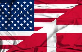 Flag USA Danmark - Danebrog Stars and Stripes
