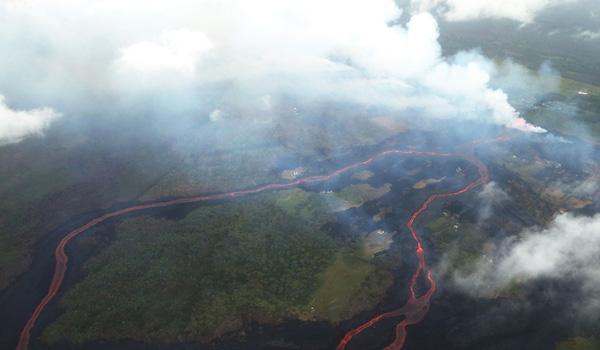 Vulkan danner farlig syresky