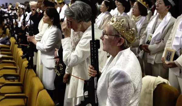 Unification Church AR-15 riffle