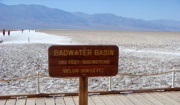 Badwater Basin i Death Valley