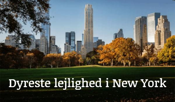 Dyreste lejlighed New York