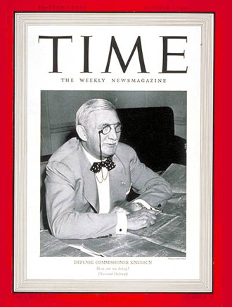 William S. Knudsen Time Magazine 1940