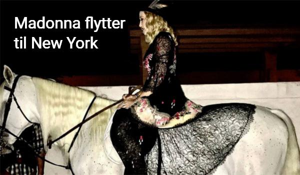 Madonna flytter til New York fra Portugal