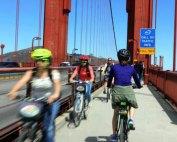 Cykel Golden Gate Broen San Francisco