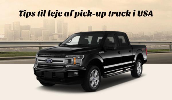 Lej pickup truck i USA