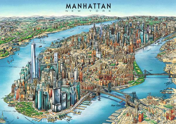 Manhattan kort seværdigheder
