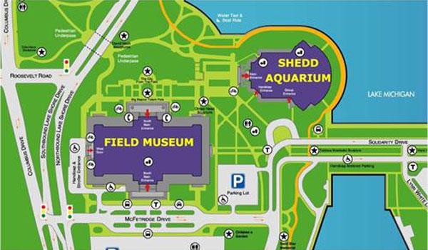 Shedd Aquarium kort