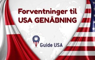 USA genåbning turister fra Danmark
