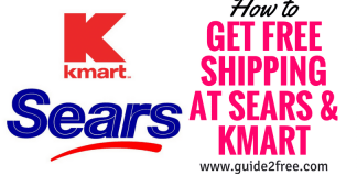 FREE Shipping at Sears & Kmart