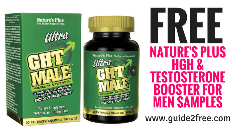 FREE Nature's Plus HGH & Testosterone Booster for Men Samples • Guide2Free Samples