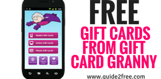FREE Gift Cards from Gift Card Granny