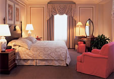 A guest room at Fairmont Chateau Laurier. Photo courtesy Chateau Laurier
