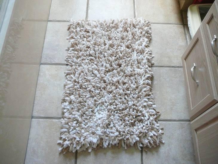 tapis boucherouite en chutes de tissus