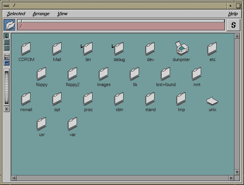The actual Indigo Magic File Manager