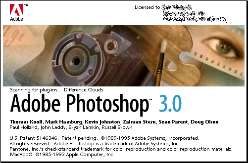 Splash in Adobe Photoshop 3.0