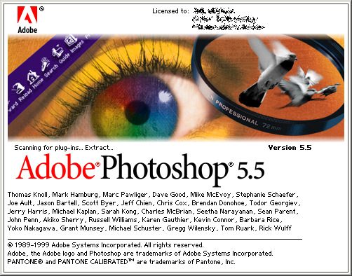 Splash in Adobe Photoshop 5.5
