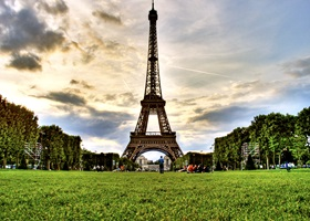Image result for The Eiffel Tower (day and night) and Champ Du Mars