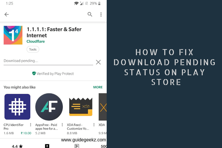 How to Fix Download Pending Status on Play Store
