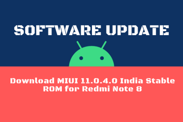 Download MIUI 11.0.4.0 India Stable ROM for Redmi Note 8