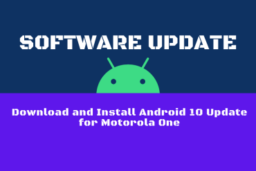 Download and Install Android 10 Update for Motorola One