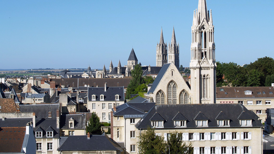 Ville de Caen en Normandie