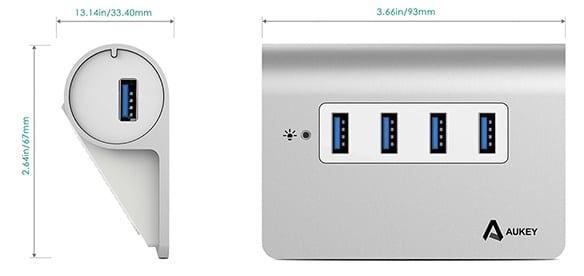 Aukey Aluminum USB 3 2