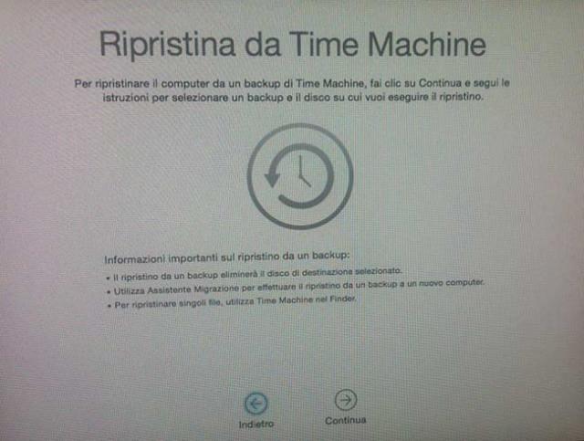ripristinare disco rigidodel Mac 2
