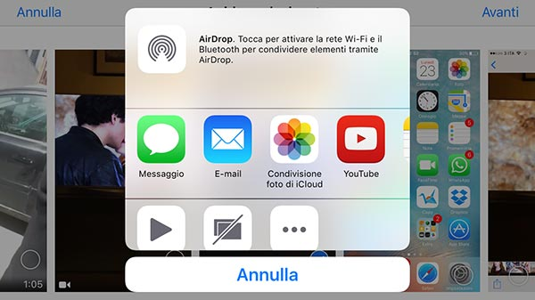 clip video su iPhone 8