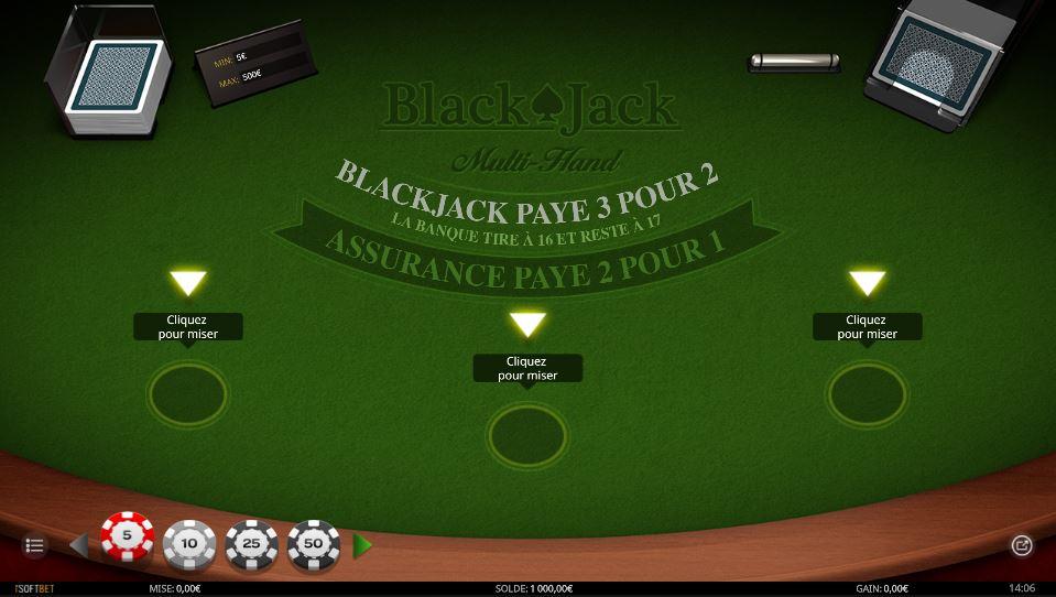 blackjack multihand de isoftbet guidejeuxdecasino com