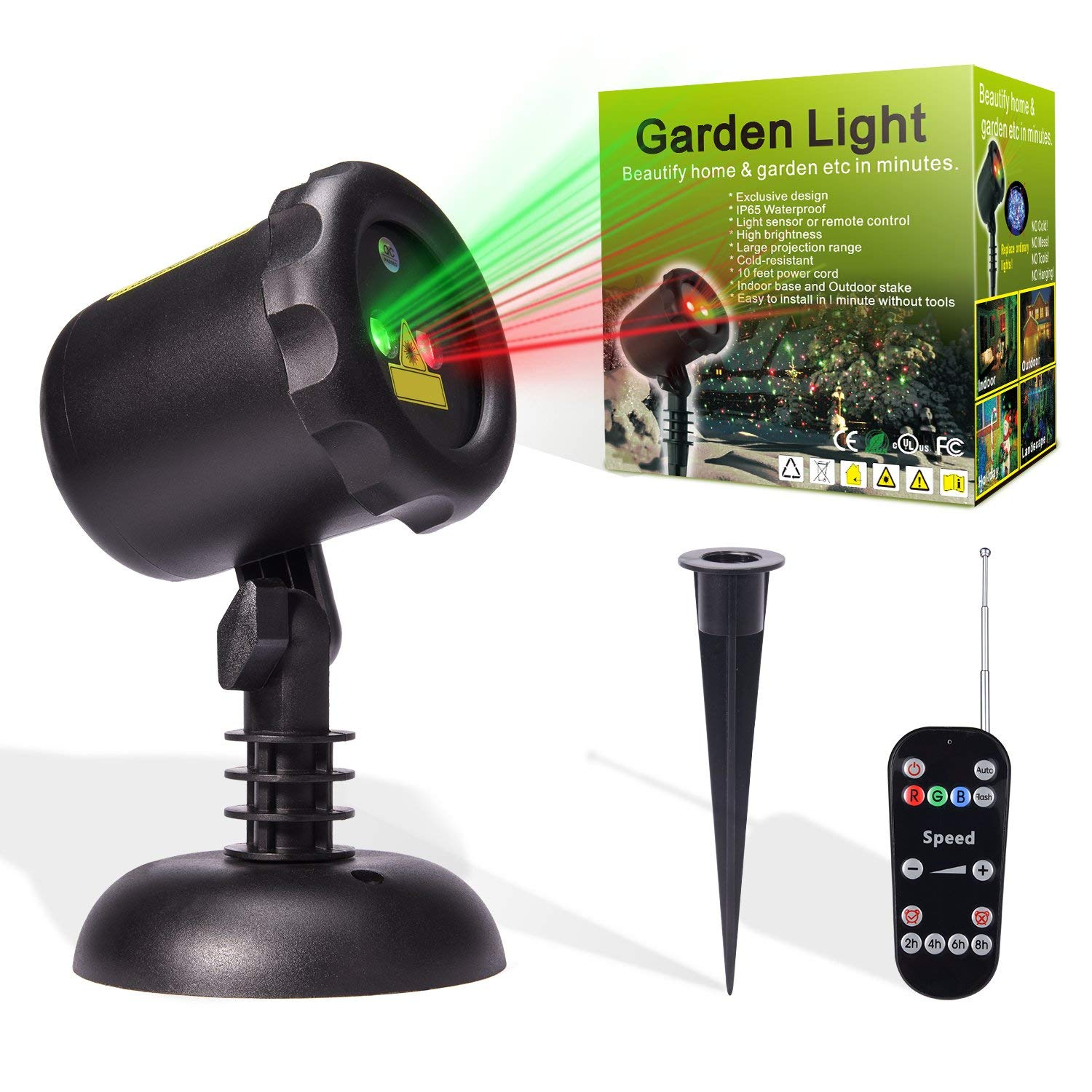 Best outdoor laser Christmas light projector - Guideliner Pro