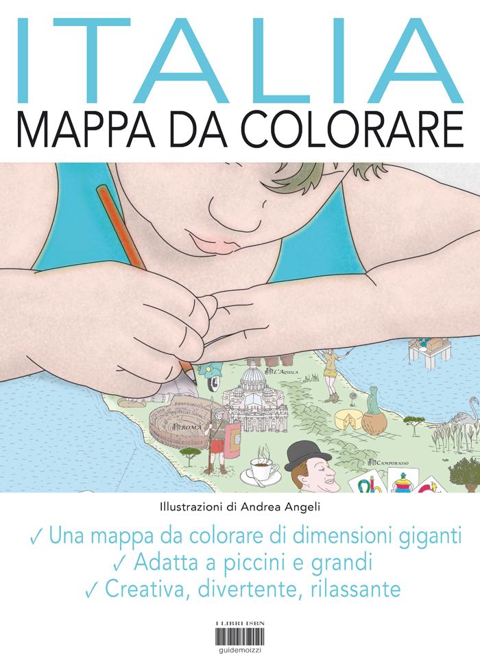 Mappa Da Colorare Italia Formato Gigante Di Andrea Angeli
