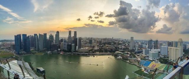 新加坡-夜景-金沙酒店-空中花園-無邊際泳池-景點-浪漫-求婚-魚尾獅-觀景台