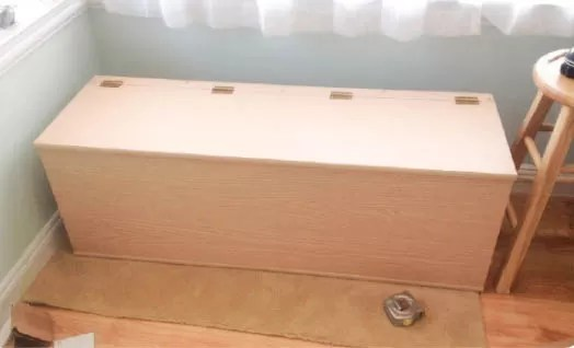 Long Bench Seat Drawers