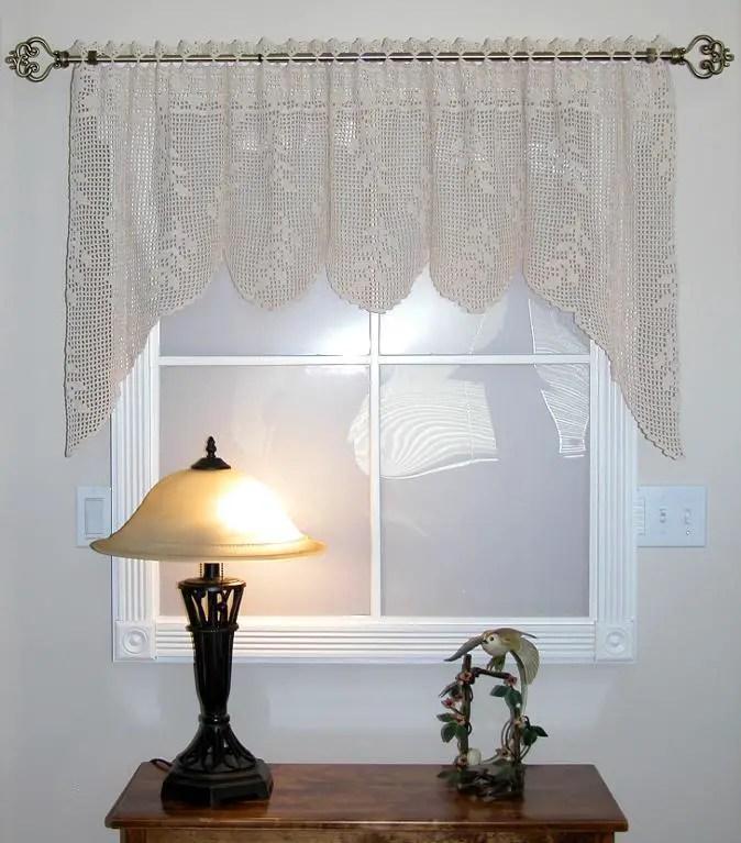 Crochet Curtain Patterns Valance