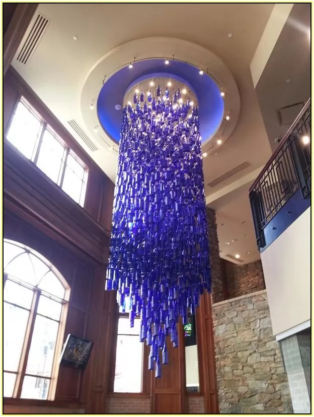 Wine Bottle Chandelier Idea