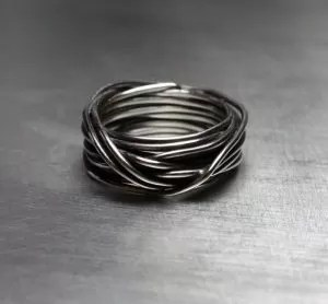 Wire Wrapped Ring For Men