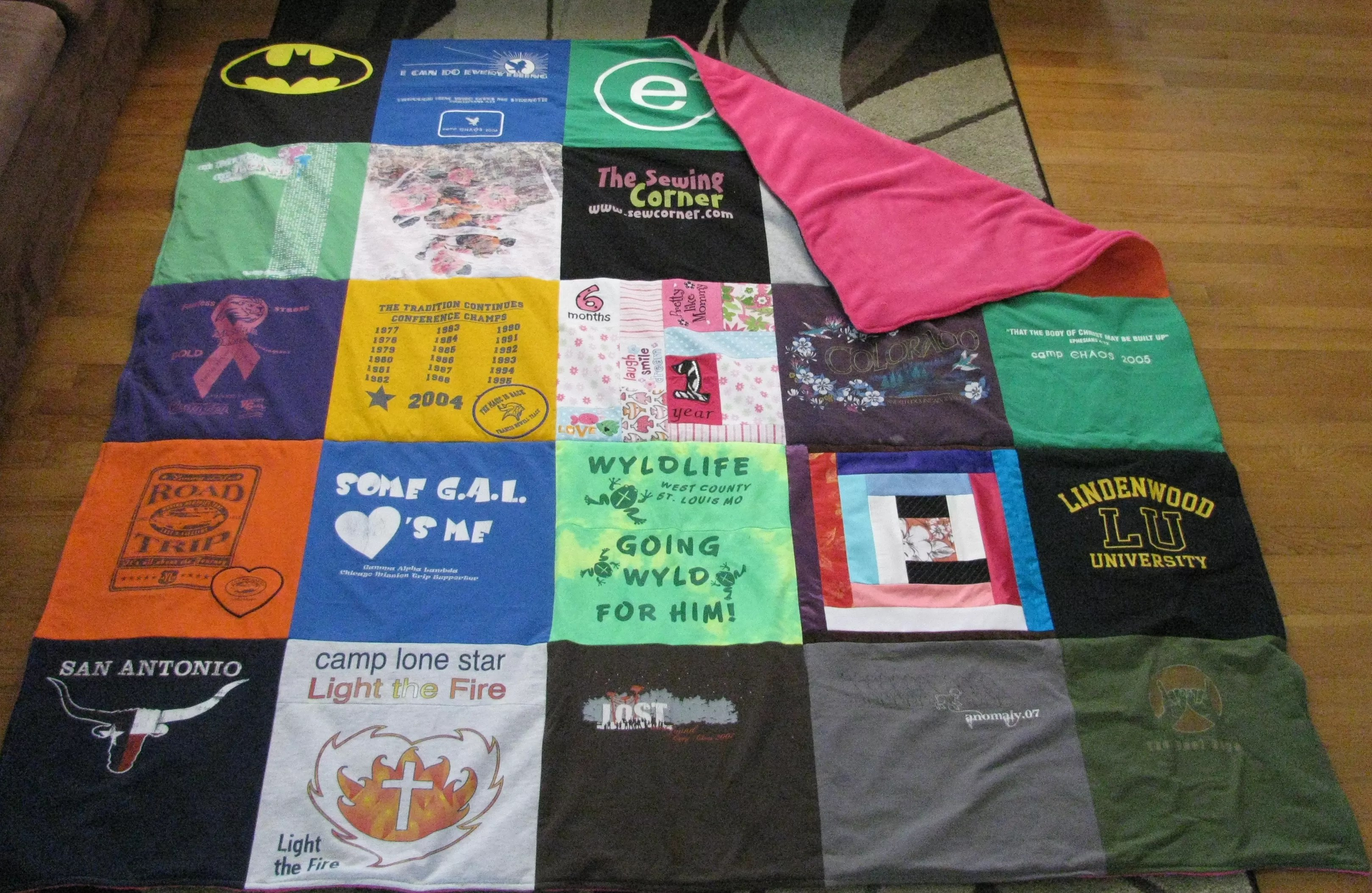 T Shirt Blanket Pattern