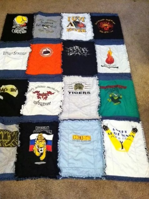 T Shirt Quilt No Sew