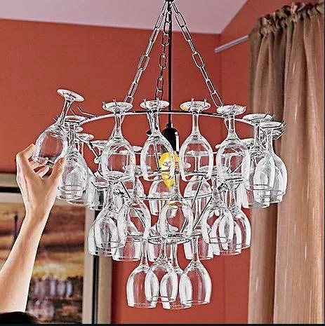 Wine Glass Chandelier Picture