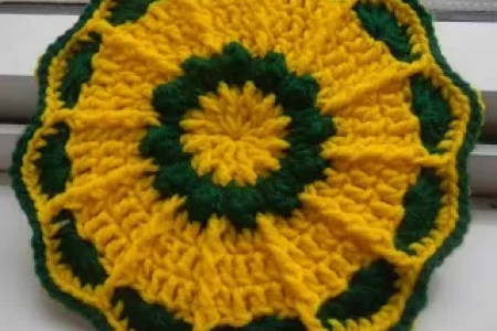 Interior Easy Sunflower To Crochet Electronic Wallpaper