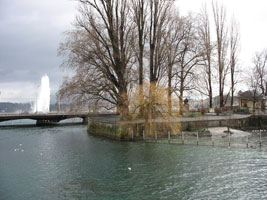 Along the waterside of Geneva