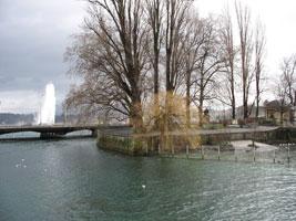Along the waterside of Geneva