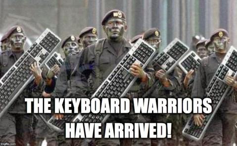 Keyboard warriors