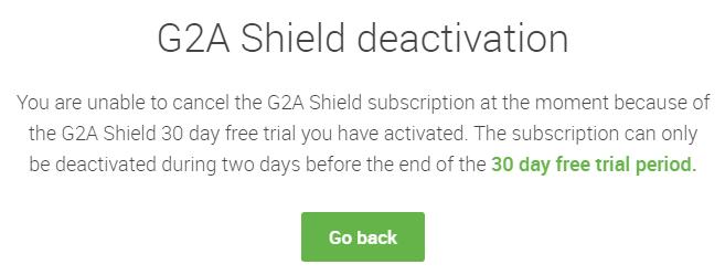 cancel G2A shield