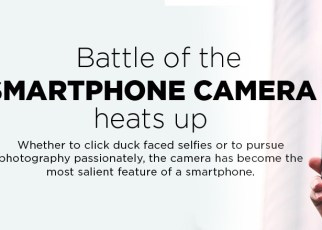 Battle of the smartphone camera hearts up infographic