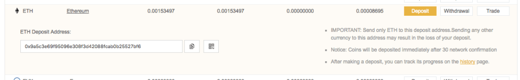 binance ethereum deposit address